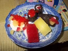 Fake sushi sweets