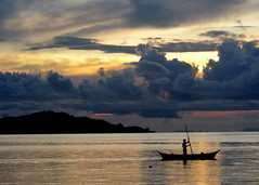 life is a journey... (atty_engel) Tags: ocean sunset sea nature silhouette clouds canon boat fisherman horizon philippines pinoy mindoro looc polestar ikawaypinoy