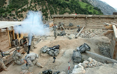 Mortar Blasts Away During Operation Mountain Warrior (DVIDSHUB) Tags: afghanistan soldier army fire military security mortar round taliban combat indirectfire nuristanprovince dvids