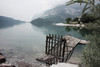 Leaving (Luca Morlok) Tags: panorama lake water canon lago eos luca trento acqua 450 molo paesaggio trentino pontile molveno 450d morlok lucamorlok