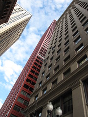 Vertigo ~ Seeing Red ~ Chicago Loop (C. Vizzone) Tags: city blue windows red fab chicago glass vertical clouds skyscraper buildings concrete loop steel highrise windowwasher washing cityscene cubism blueribbonwinner supershot inspiredbylove flickrsbest shieldofexcellence diamondclassphotographer flickrdiamond citrit overtheexcellence rubyphotographer alwaysexc dragondaggerphoto artofatmosphere daarklands flickrvault