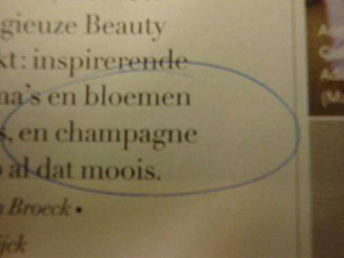bloemen en champagne