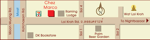 Map-to-Chez-Marco,-Chiangmai