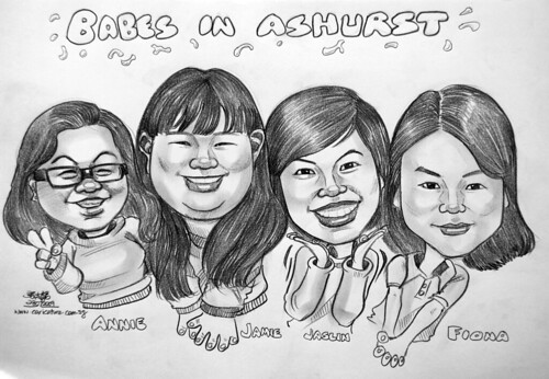 Group caricatures for Ashurst