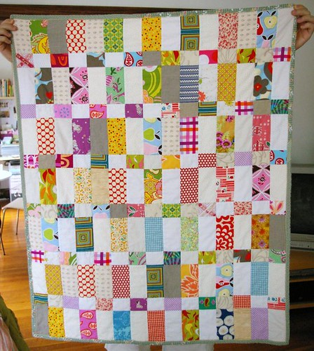 Strips and Bricks quilt - all done