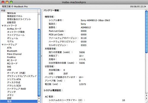 MacBook Proのバッテリーを交換しました。
