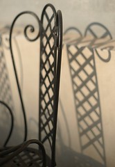 chair (StefanLarssonPhotos) Tags: shadow urban abstract cafe chair prague sony namesti a900 malostranske minoltaamount