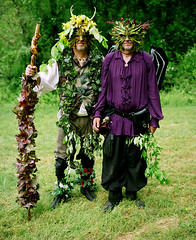 Two Trees Faerie Festival (Paul Sharratt) Tags: trees film moss forrest horns surreal medicine mystical magical faerie whimsical mythical mamiya7