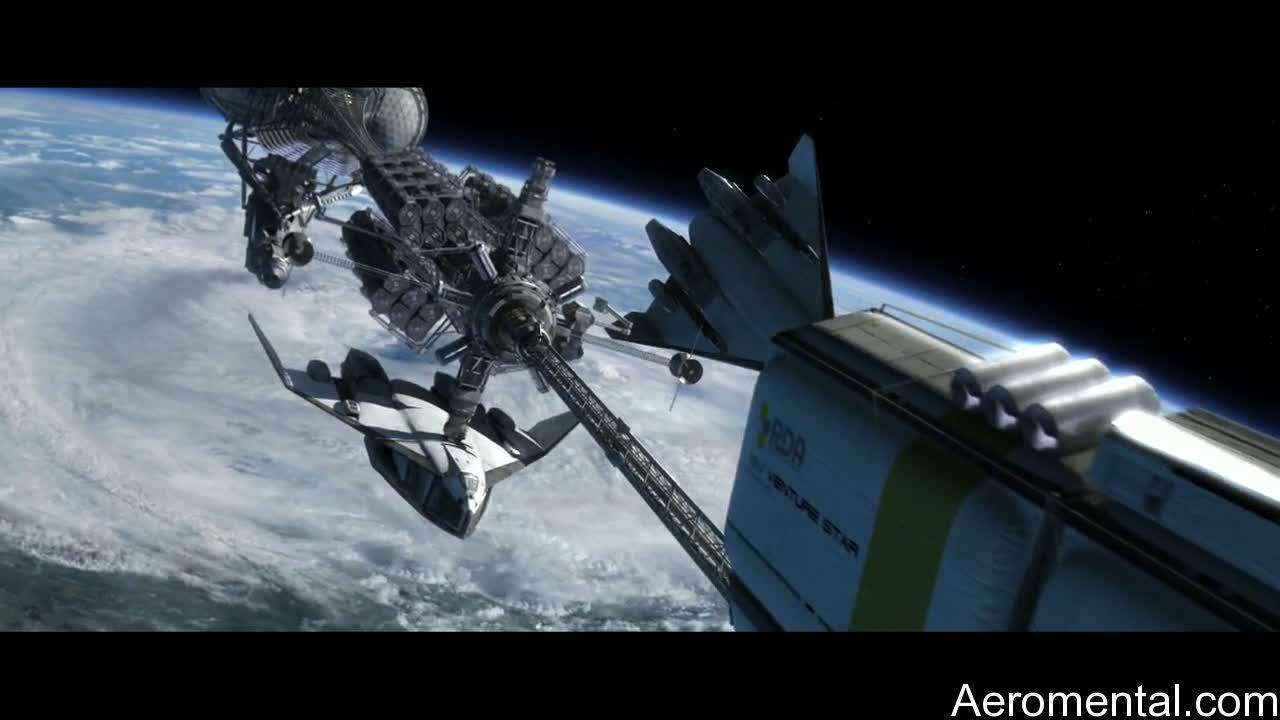 película Avatar satélite espacial