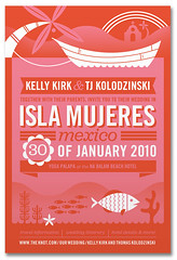 Isla Mujeres Invite (Katie Kirk) Tags: wedding wisconsin illustration mexico design invite vector kirk islamujeres rsvp wausau weddinginvite eighthourday katiekirk kellykirk tjkolodzinski