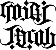"""Miri"" & ""Jacob"" Ambigram"