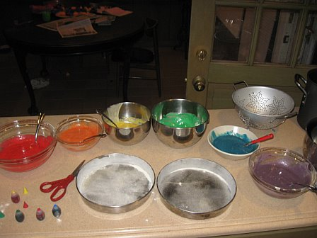 The batter, divided and dyed