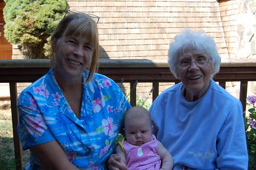Camille, Mira, Grandma Lois