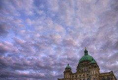 The Clouds and Parliament (Brandon Godfrey) Tags: world pictures canada clouds landscape photography gold photo amazing fantastic scenery bc shot photos shots pics earth britishcolumbia teal sony picture scene images victoria vancouverisland negativespace dome creativecommons pacificnorthwest northamerica alpha dslr legislature 2009 hdr highdynamicrange jamesbay outstanding parliamentbuildings ruleofthirds a300 parliamentbuilding copperroof georgevancouver bclegislature bcparliamentbuildings singlerawfilehdr stachue dslra300 sonya300