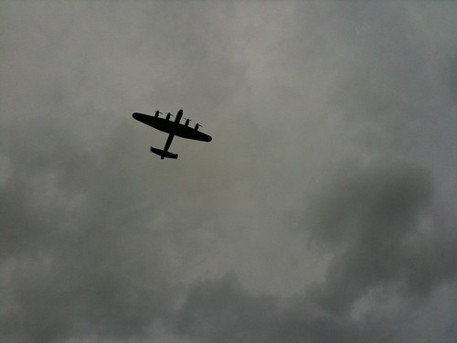 Lancaster Bomber Cricket Fly Past