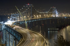 Bay Bridge closure (exxonvaldez) Tags: sanfrancisco night baybridge closure sfist