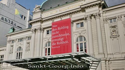 Demonstration gegen NPD in Hamburg St. Georg
