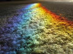Rainbow wave (Aylesbury_Mark) Tags: morning sunlight canon carpet rainbow prism powershot fibres a650 a650is