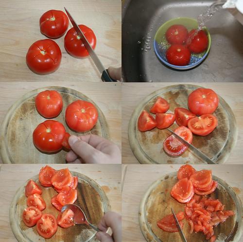 15 - Tomaten häuten & entkernen