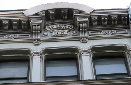 44 Lispenard Street - Cornice And Inscription