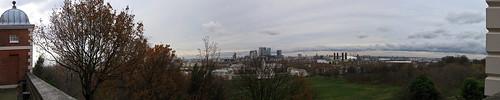 Panorámica desde el observatorio de Greenwich
