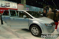 Chinese firm BYD Auto showing electric vehicle...