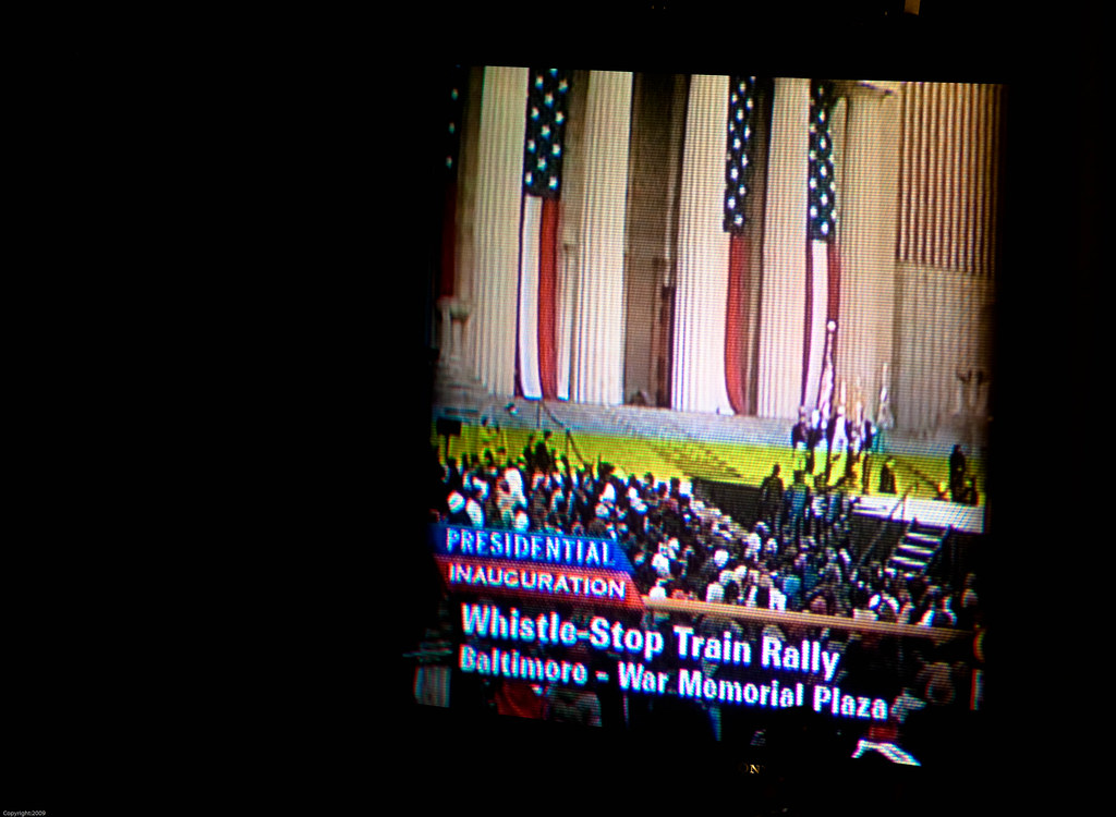 Whistle Stop Train Rally in Baltimore
