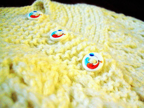 February baby sweater - buttons by you.