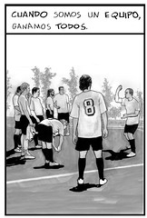 Cuando somos un equipo... (PA) Tags: illustration football fussball contest 8 players futbol winning footbalplayer raimundomortecom juntadeextremadura socialmessages spielets cuandosomosunequipoganamostodos