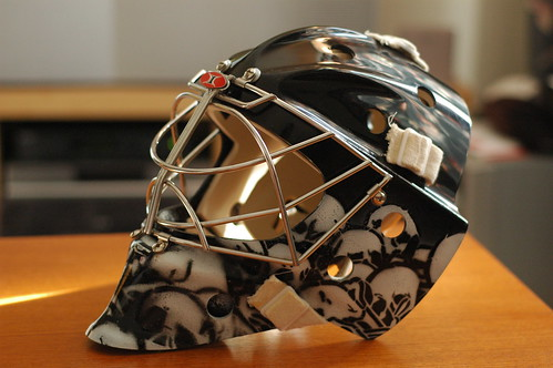 Itech 961 Goalie Mask Painted by John Grider
