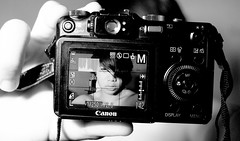 Lights, Camera, Action (~Idan) Tags: bw white black home fashion self canon studio photographer powershot potrait selfpotrait idan the g7
