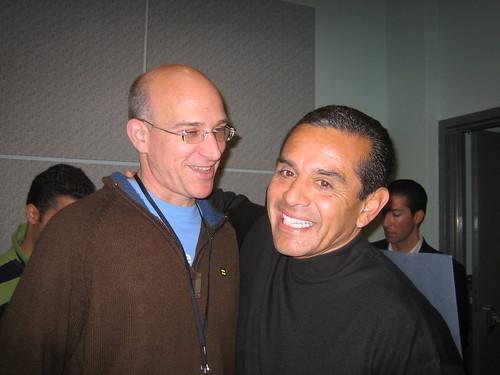 HRC's Marty Rouse and LA Mayor ANtonio Villaraigosa