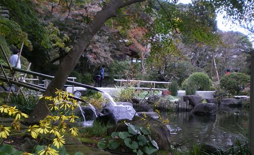 Jardín en la entrada de Hase-dera