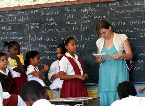 Student teacher in Belize