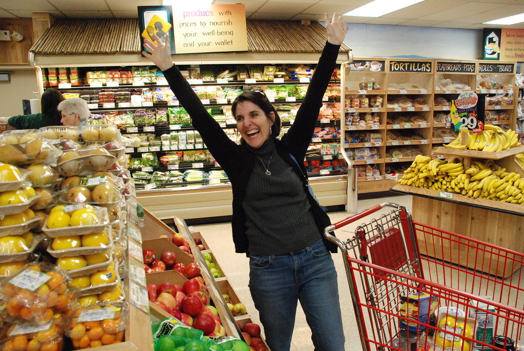 Julie in Trader Joe's in OREGON!