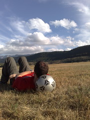 Take it Easy (alessio -) Tags: blue sky nature grass clouds ball relax alone ground thinking meditation blueribbonwinner pfogold