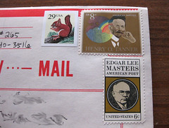 Vintage stamps on V-mail