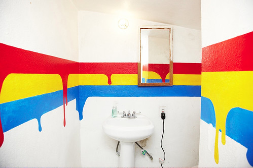 supergraphic bathroom