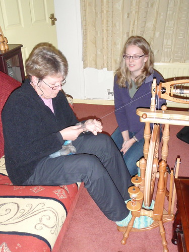 Teaching Mum to spin