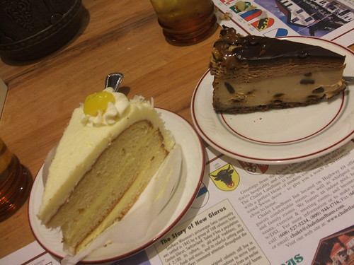 Lemon chiffon cake and turtle cheesecake