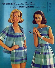 Everfast Presents Pam Pam (The Pie Shops Collection) Tags: blue woman fashion vintage ads advertising women plaid 1959