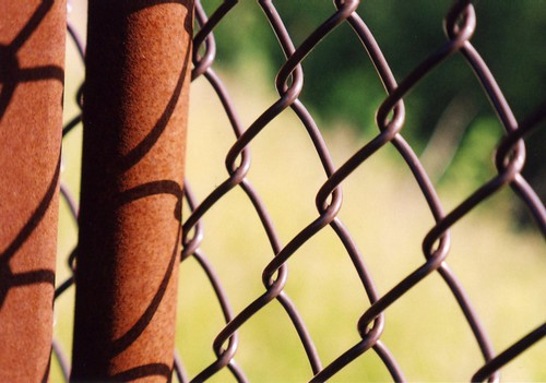 Rusted Cyclone Fence