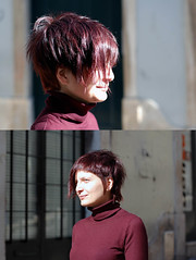 haircut asymmetric with red color (wip-hairport) Tags: red haircut color portugal lisbon wip asymmetric hairport