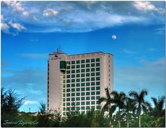The Marco Polo Davao and the Moon (JoLiz) Tags: sky moon hotel philippines pk hdr davao marcopolo davaocity davaodelsur pinoykodakero spiritofphotography larawangpinoy garbongbisaya