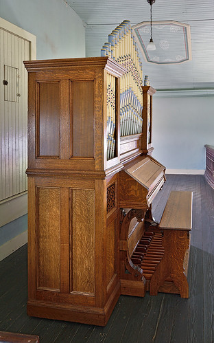 Old Saint Ferdinand Shrine, in Florissant, Missouri, USA - Church pipe organ