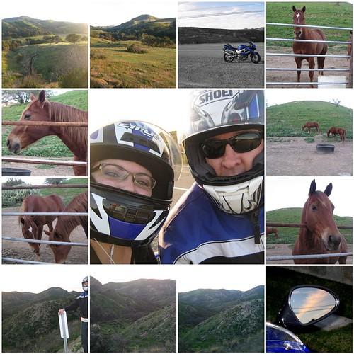 Ride down Santiago Canyon Road