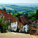 Cottages on a hill, Shaftesbury - England Study Abroad