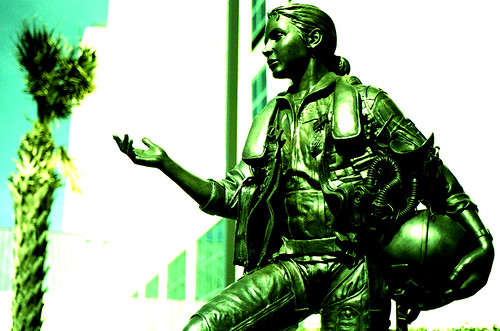 La Madonna — Female Pilot, Naval Aviation Monument. (Fuji Provia 100F — Cross-Processed. Nikon F100. Epson V500.)