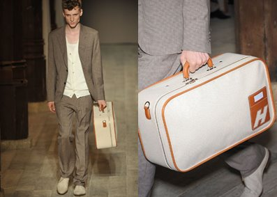 UL 53 suitcase in Toile H and taurillon clemence