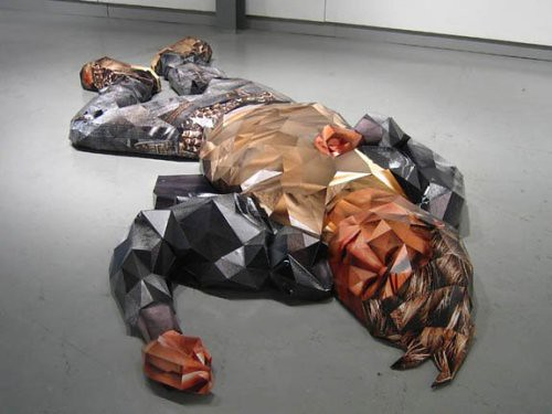 3D Sculptures in style of computer games of 80th years